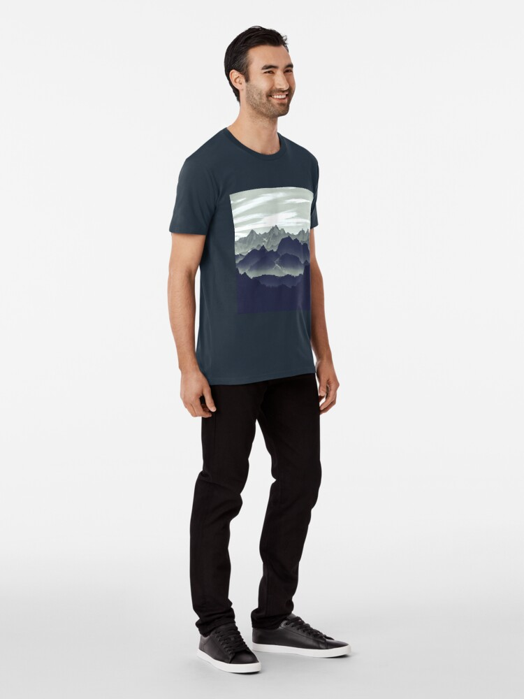 Alternate view of Mountains are calling for us Premium T-Shirt