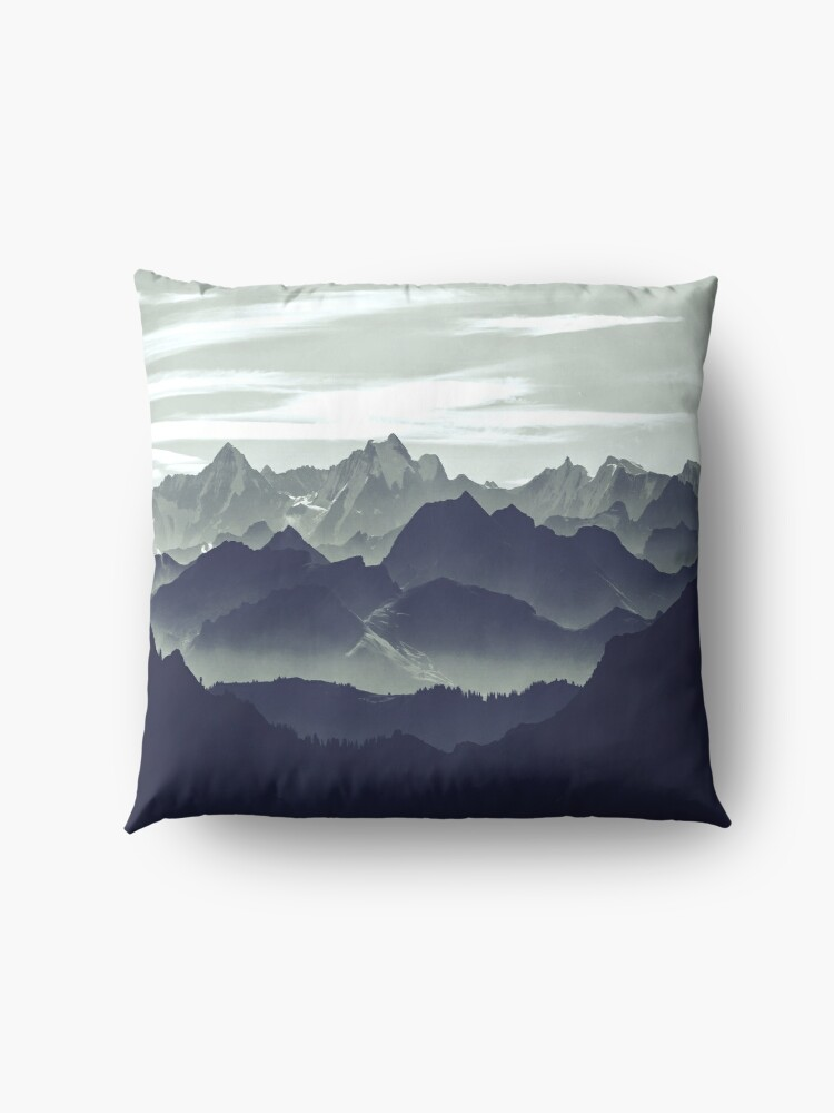 Alternate view of Mountains are calling for us Floor Pillow
