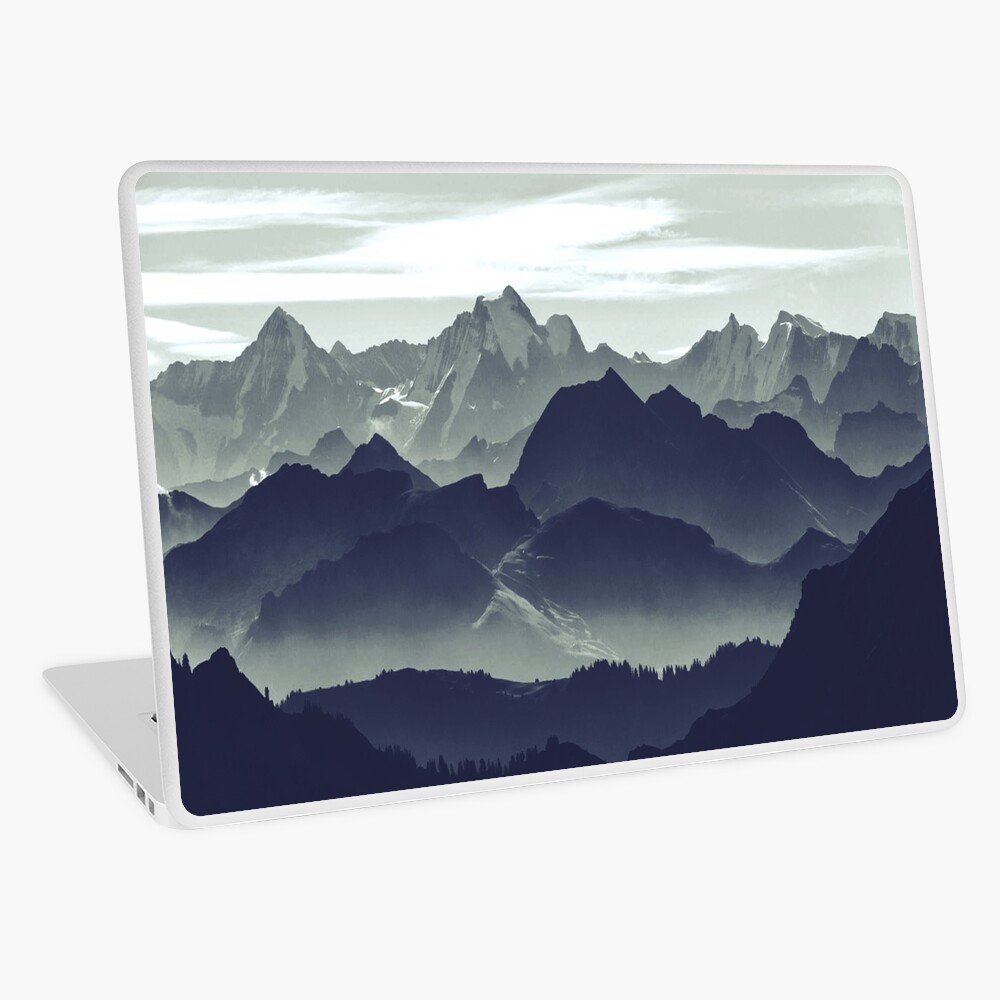 Mountains are calling for us Laptop Skin