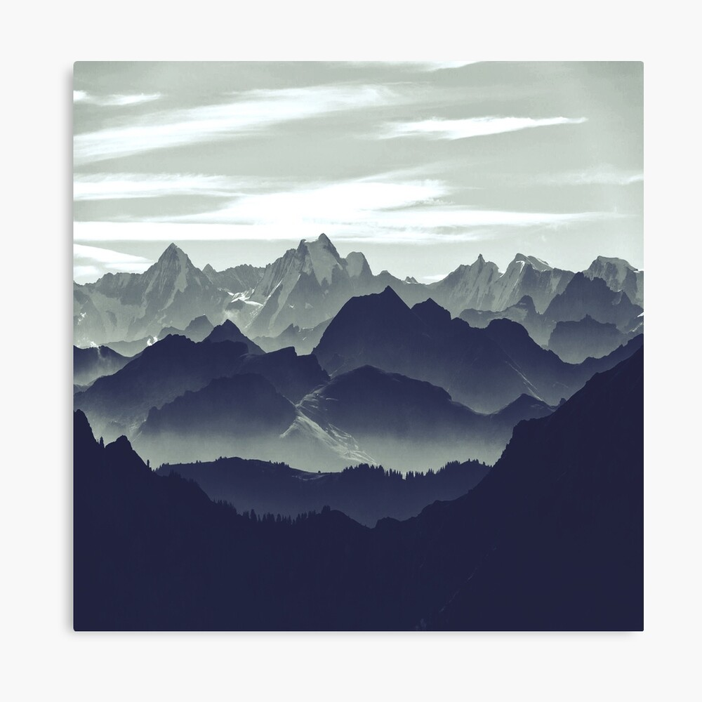 Mountains are calling for us Canvas Print