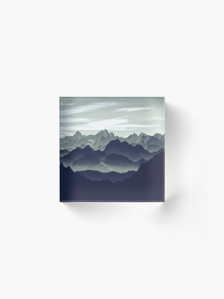 Alternate view of Mountains are calling for us Acrylic Block