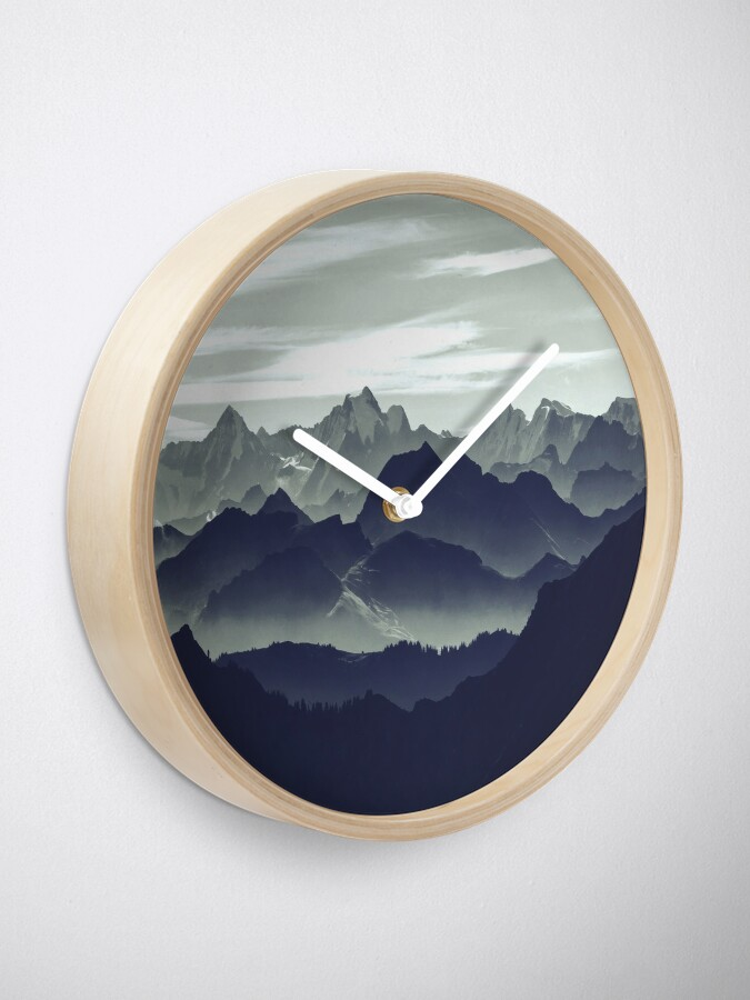 Alternate view of Mountains are calling for us Clock