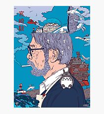 Hayao Miyazaki  Photographic Print