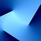 Three cuts in blue by John Dalkin