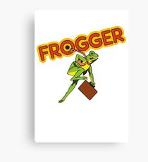 Frogger Cabinet Canvas Print