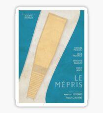 Contempt (Le mépris), Jean-Luc Godard movie poster, Brigitte Bardot, , Fritz Lang, french new wave film Sticker