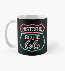 Historic Route 66 Vintage Retro Style Neon Sign Classic Mug