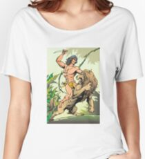 Tarzan and Lion Women's Relaxed Fit T-Shirt