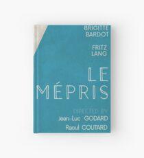 Contempt (Le mépris), Jean-Luc Godard movie poster, Brigitte Bardot, , Fritz Lang, french new wave film Hardcover Journal