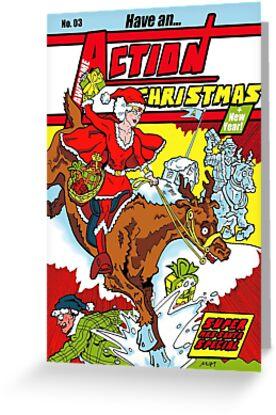 Action Christmas - Super Mrs Santa! by Jokertoons