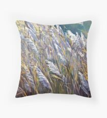 Wisconsin grasses Throw Pillow
