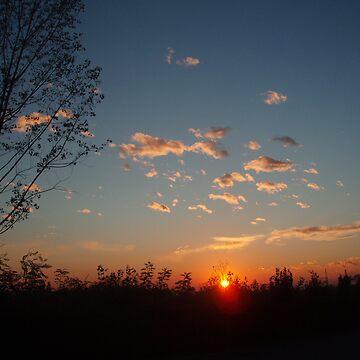 Sunset in Novara by presbi