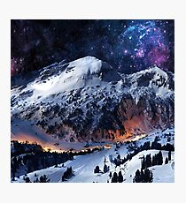Mountain Calm in space view Photographic Print