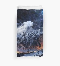 Mountain Calm in space view Duvet Cover
