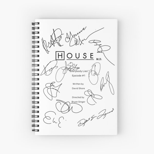 House MD Script Spiral Notebook