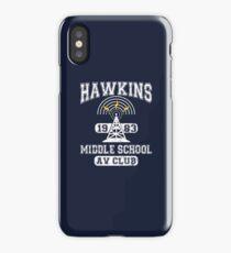Stranger Things Tee - Hawkins AV Club iPhone Case/Skin