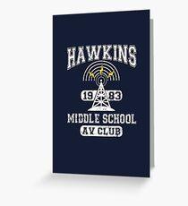 Stranger Things Tee - Hawkins AV Club Greeting Card