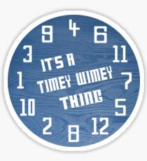 Timey Wimey Clock Sticker