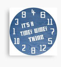 Timey Wimey Clock Canvas Print