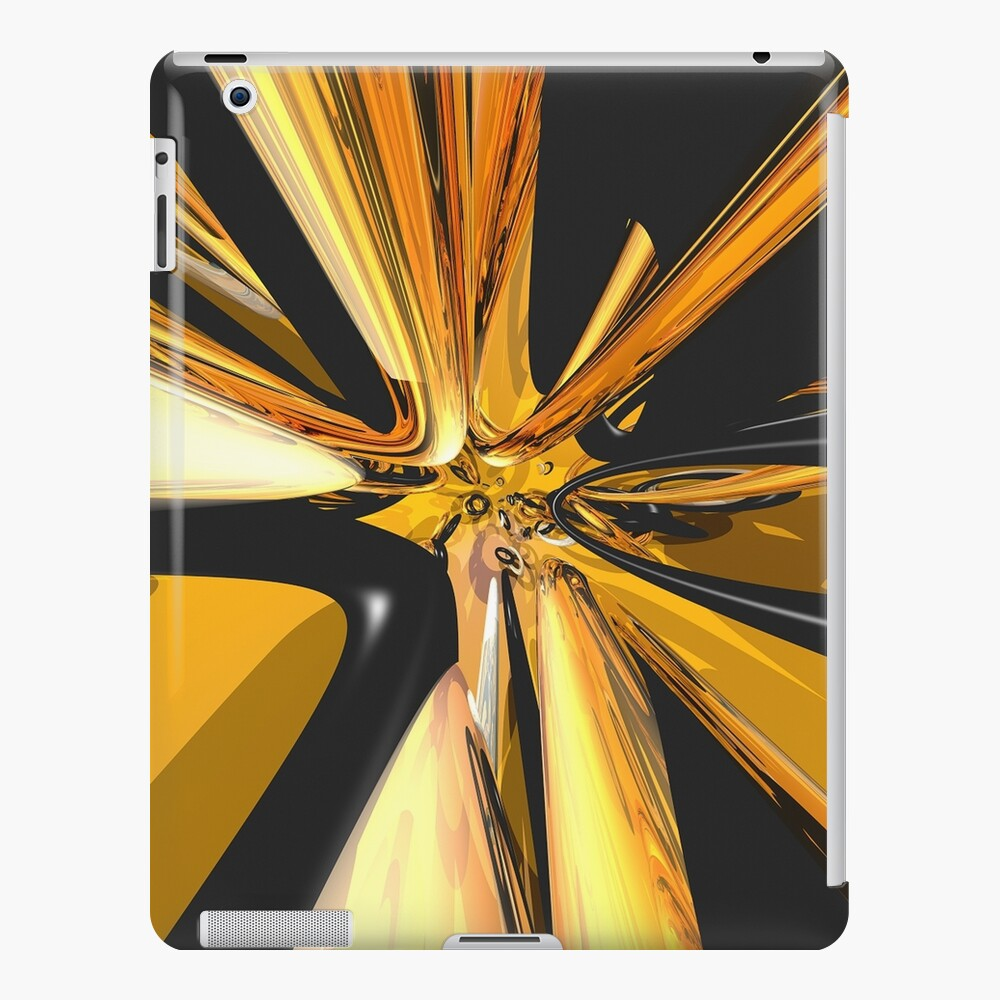 Black And Gold 3D Abstract iPad Case & Skin