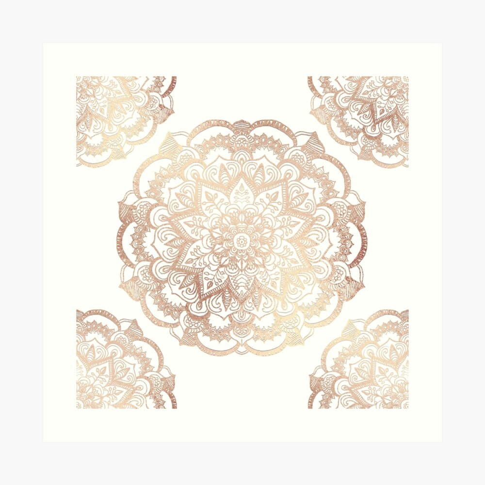 Mandala Gold Shine I Art Print