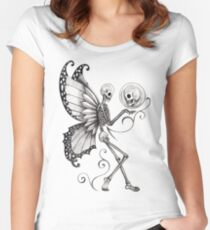 Skull Fairy Women's Fitted Scoop T-Shirt
