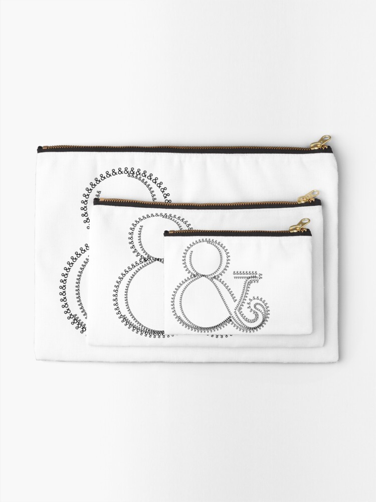 Alternate view of Ampersand 005 & Zipper Pouch