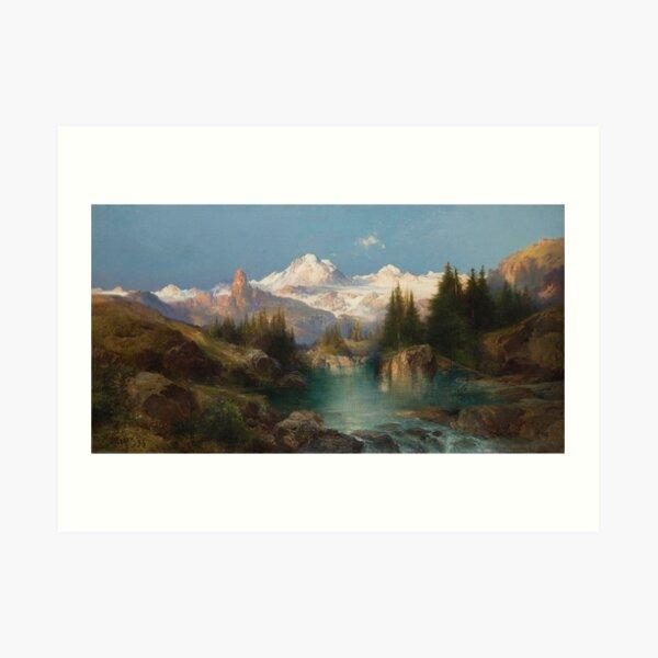 Vintage Thomas Moran Snowy Range 1896 Fine Art Art Print