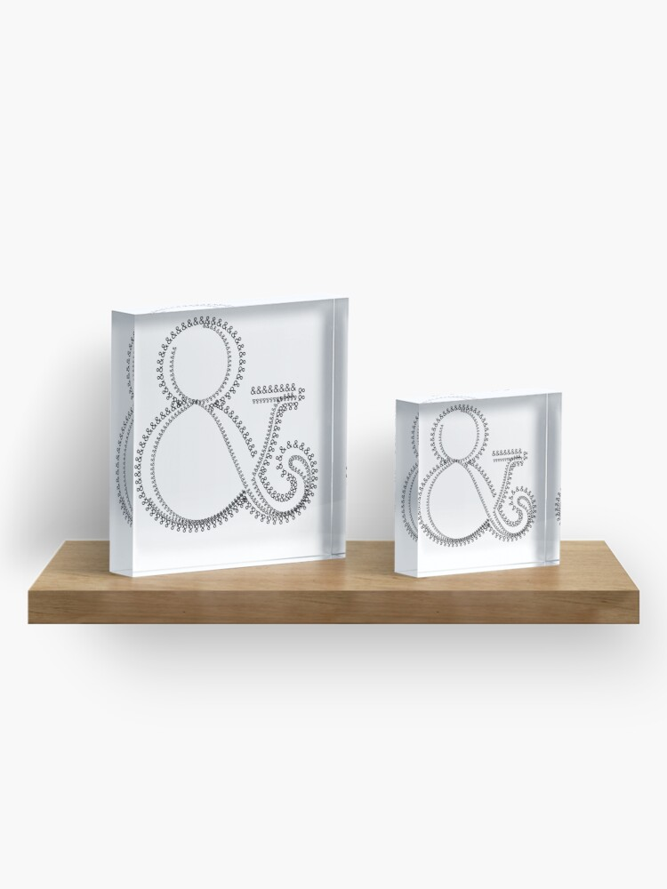 Alternate view of Ampersand 005 & Acrylic Block