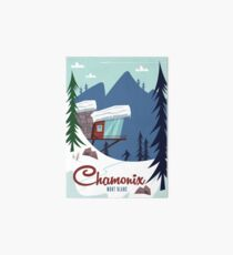Chamonix Mont Blanc poster Art Board