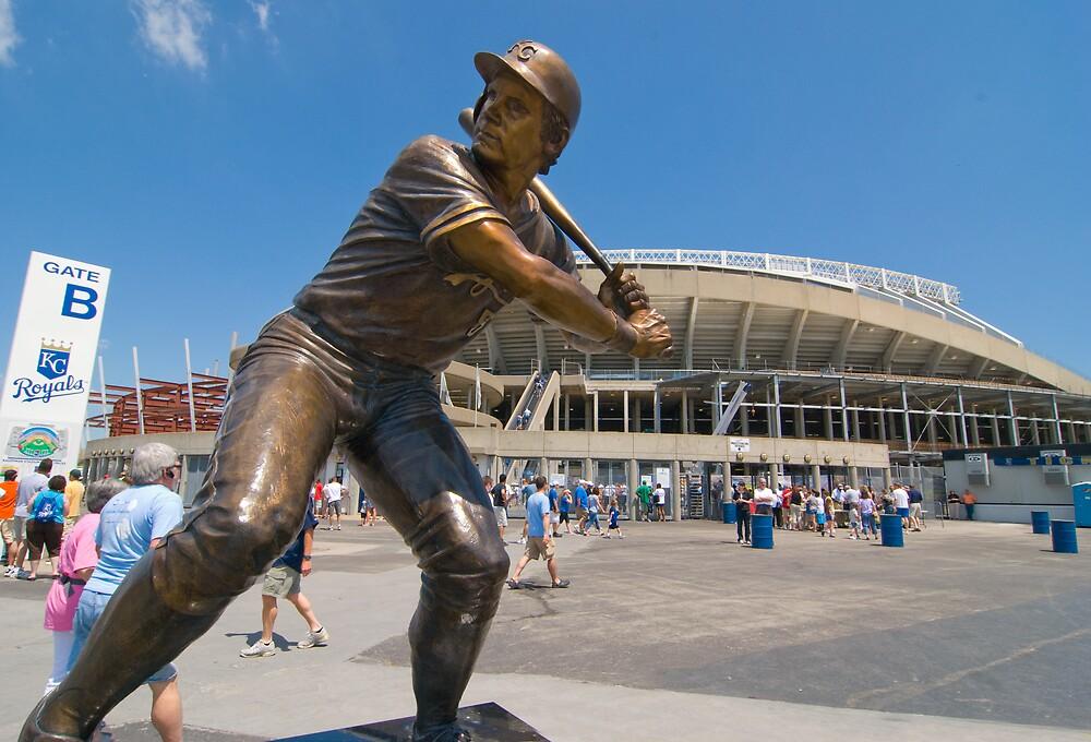 George Brett statue, Kauffman Stadium by John Rodriguez