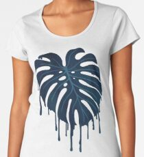 Monstera Melt (in Green) Women's Premium T-Shirt