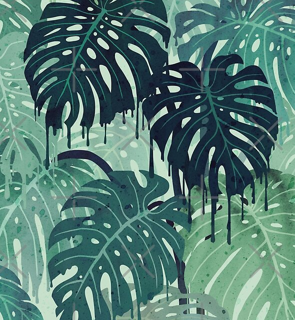 Monstera Melt (in Green) by littleclyde