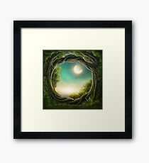 Enchanted Dark Forest  Framed Print