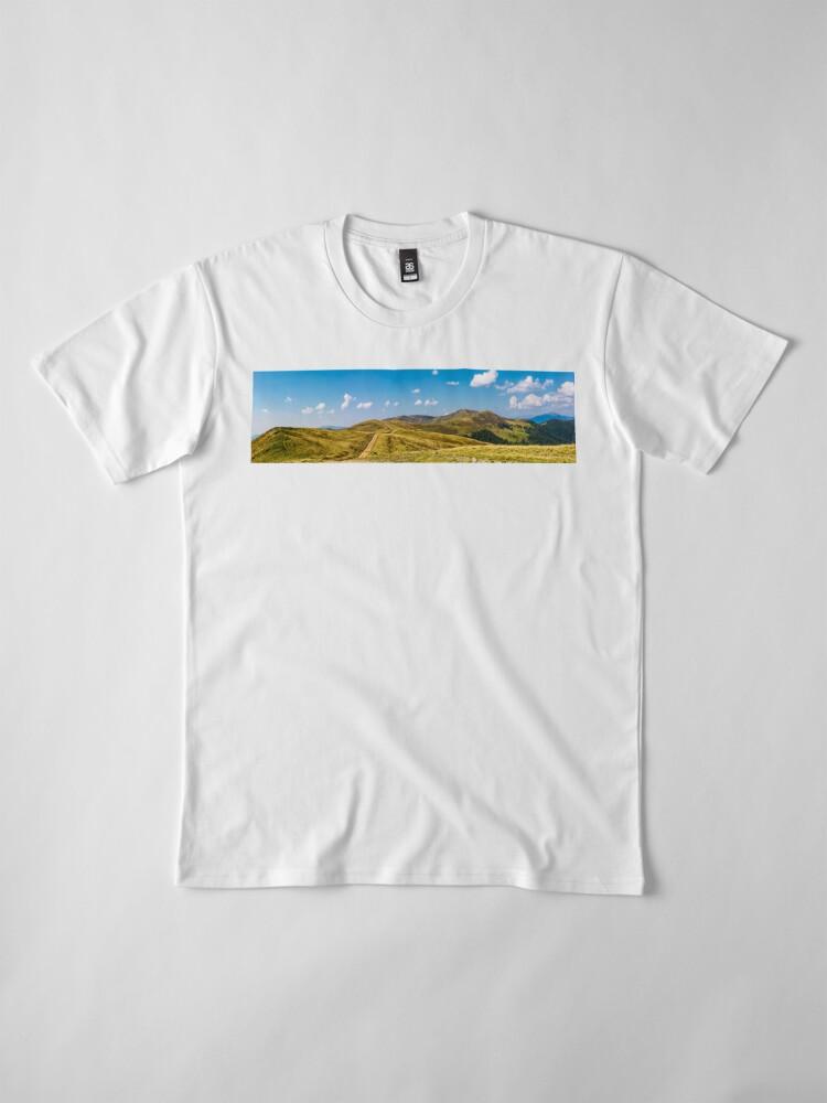 Alternate view of footpath through rolling hills of mountain ridge Premium T-Shirt
