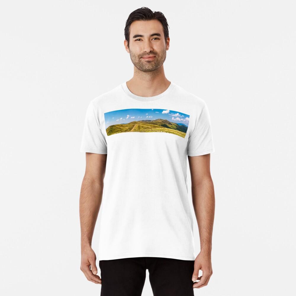 footpath through rolling hills of mountain ridge Premium T-Shirt