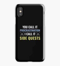 Procrastination Side Quests iPhone Case/Skin