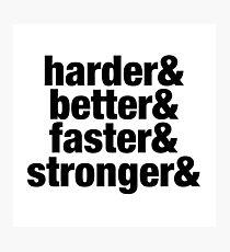 Harder Better Faster Stronger - Cool Daft Punk Sticker T-Shirt Pillow Photographic Print