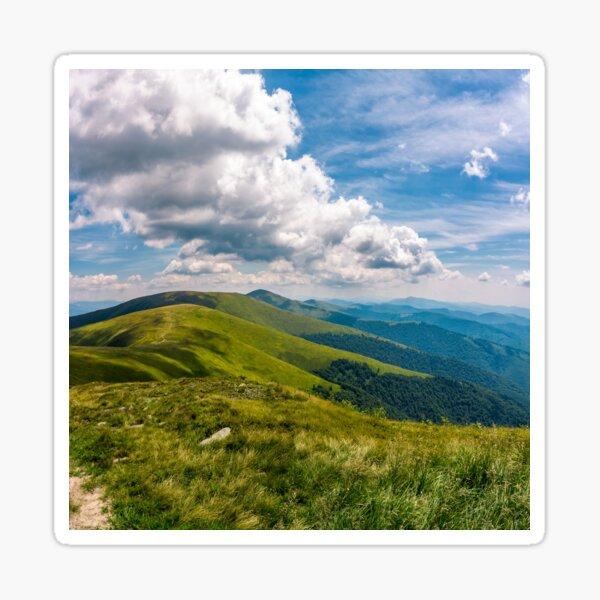 gorgeous cloudscape over stunning landscape Sticker