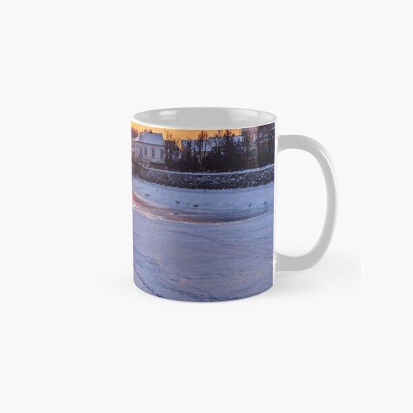 winter sunrise on the bank of ice covered river Uz Classic Mug