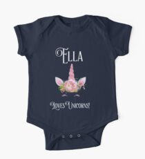 Personalized Unicorn Shirt   Unicorn Shirt   Unicorn Mug   Ella Loves Uncorns   Girls Personalized Shirt   CONTACT ME TO PERSONALIZE  One Piece - Short Sleeve