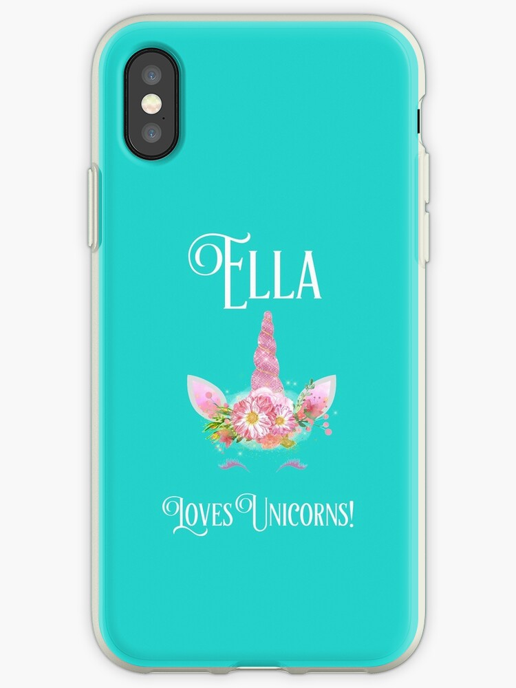 Personalized Unicorn Shirt Unicorn Shirt Unicorn Mug Ella Loves Uncorns Girls Personalized Shirt Contact Me To Personalize Iphone