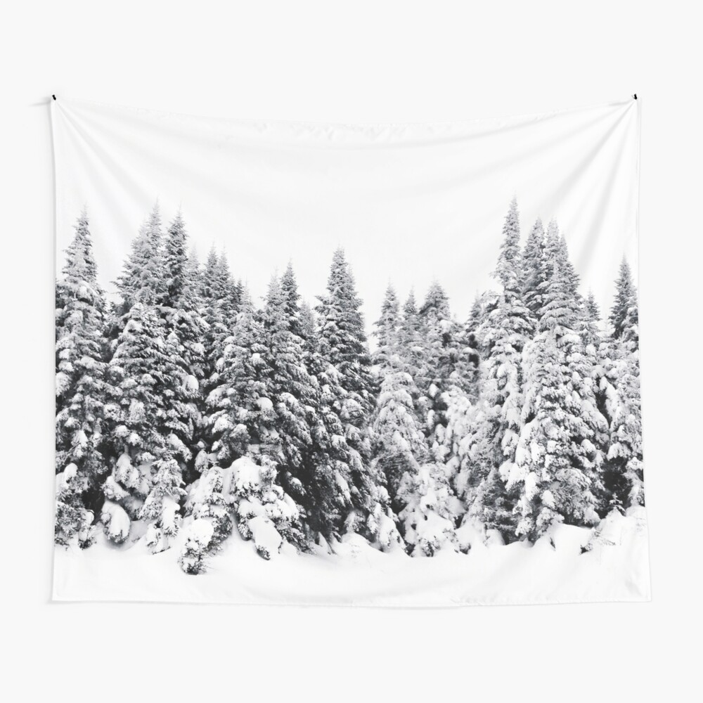 Snow Day Has Come Wall Tapestry