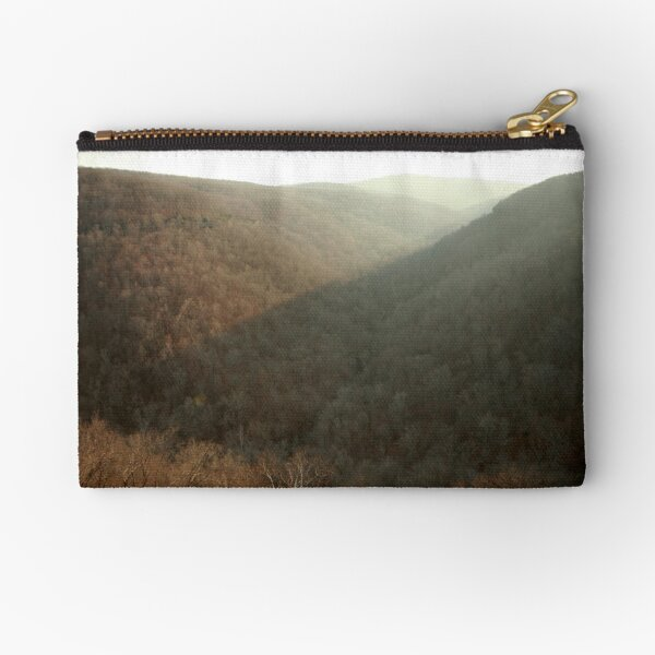 Evening in the Boston Mountains Zipper Pouch