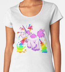 Unicorn makes rainbow Women's Premium T-Shirt