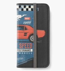 Ford Mustang - King Of Speed iPhone Flip-Case/Hülle/Skin