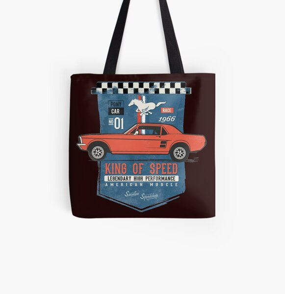 Ford Mustang - King of Speed All Over Print Tote Bag
