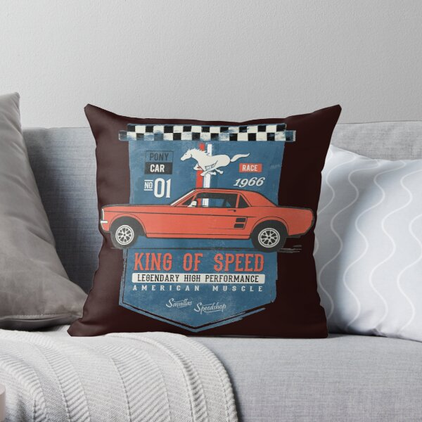 Ford Mustang - King of Speed Throw Pillow