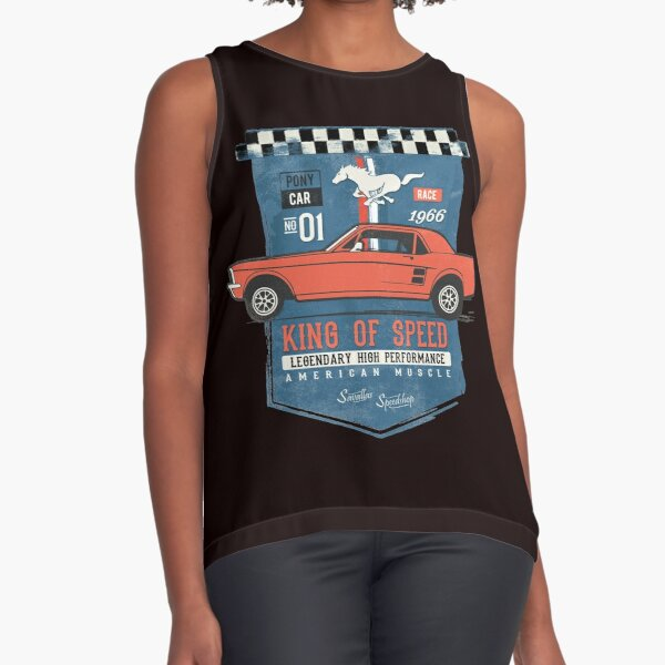 Ford Mustang - King of Speed Sleeveless Top
