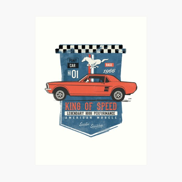 Ford Mustang - King of Speed Art Print